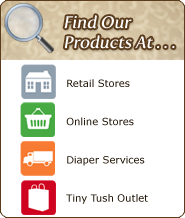 Find Our Cloth Diapering Products At A Store Near You